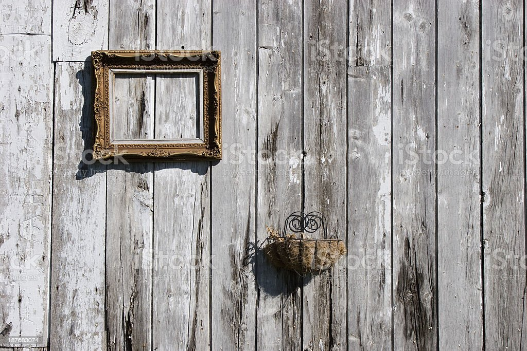 Old Wall with Picture frame royalty-free stock photo
