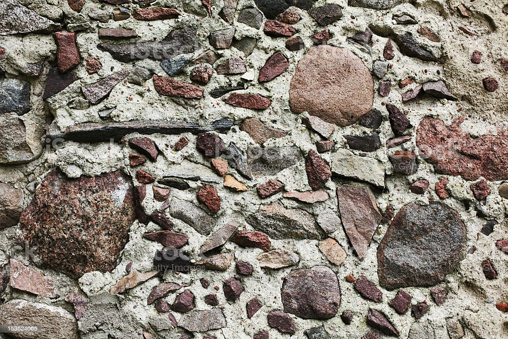 old wall with stones royalty-free stock photo