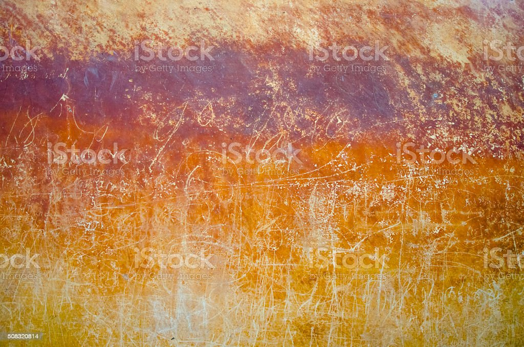 Old wall with text and drawings stock photo