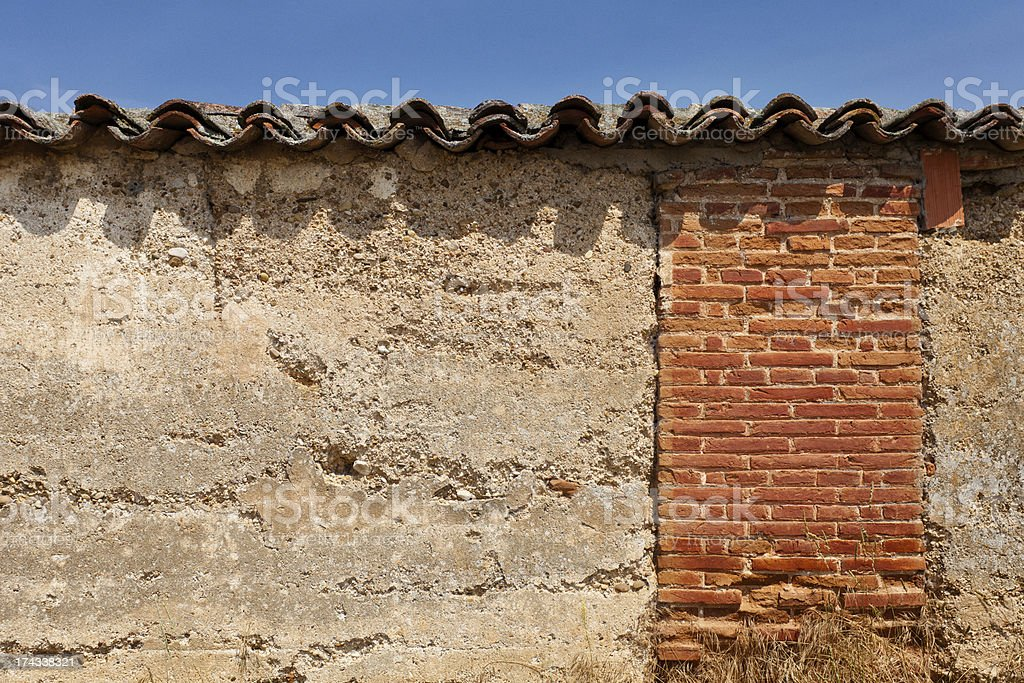 Old Wall with Tiles royalty-free stock photo