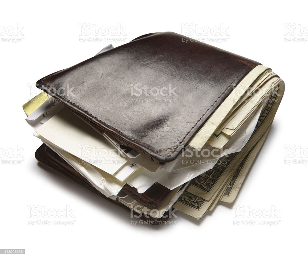 Old Wallet royalty-free stock photo