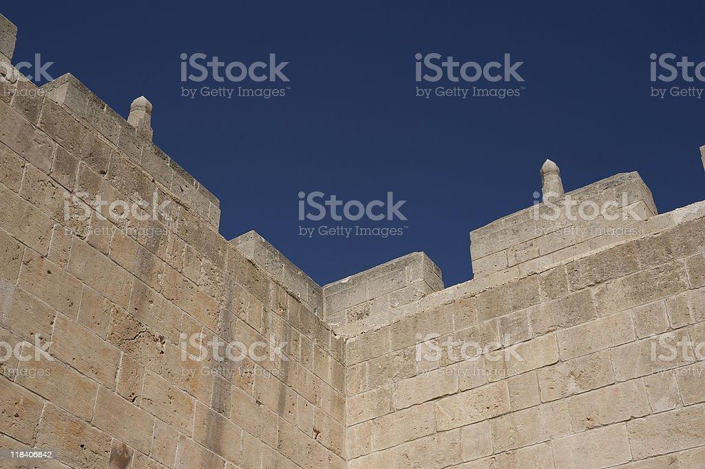 Antigas muralhas de Aleppo foto royalty-free