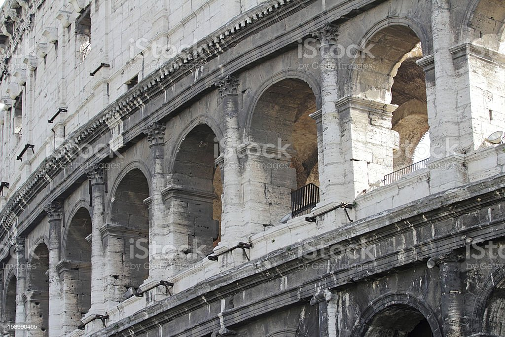 Old walls of Coliseum. royalty-free stock photo