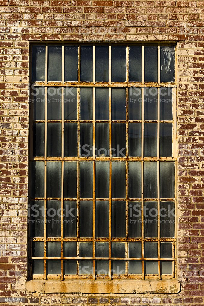 Old Warehose Window royalty-free stock photo