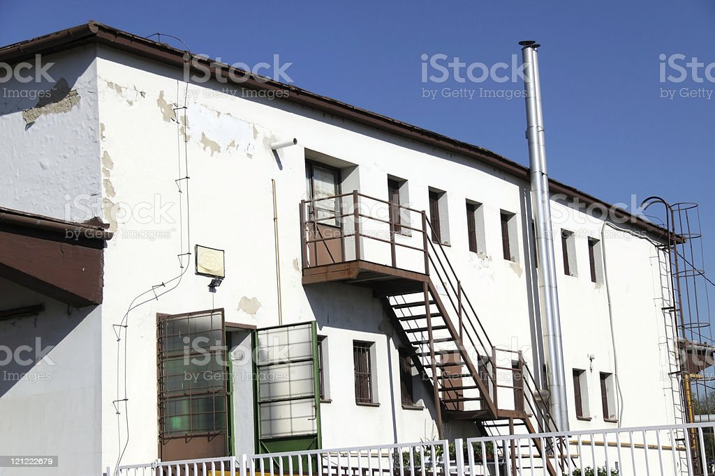 old warehouse building royalty-free stock photo
