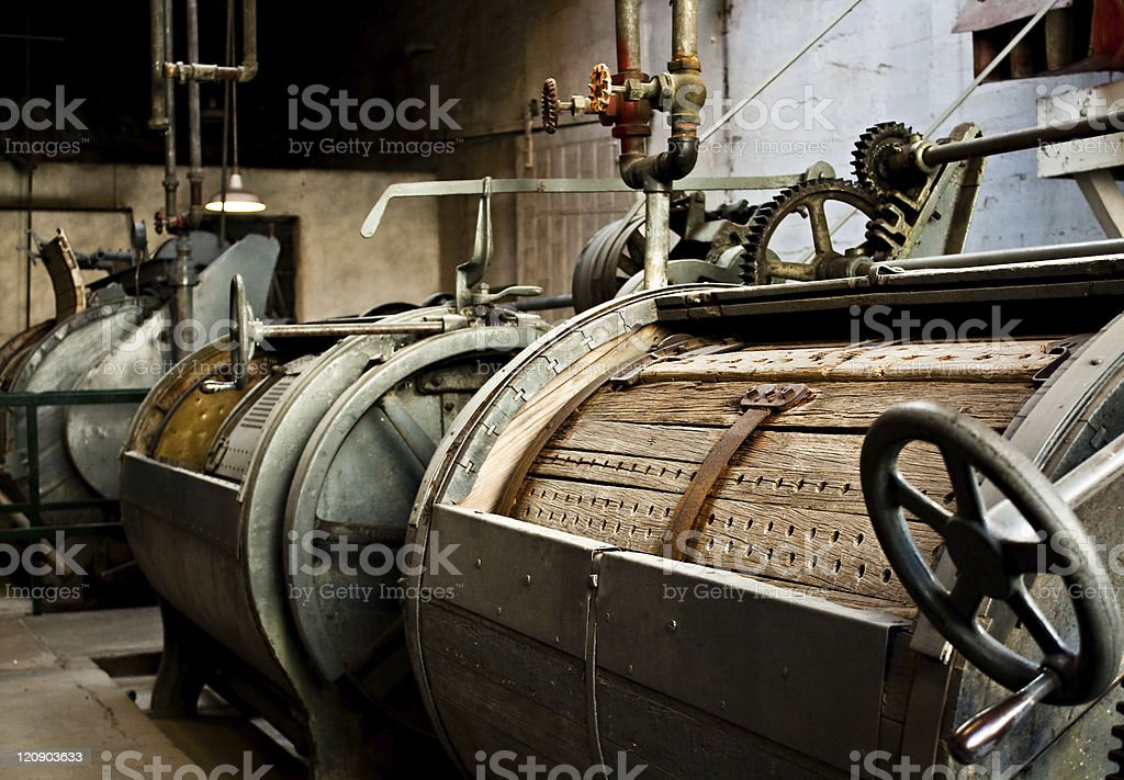 Old washing machine at a prison royalty-free stock photo