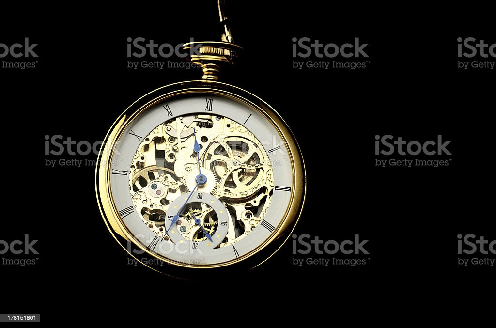 Old watch machine royalty-free stock photo