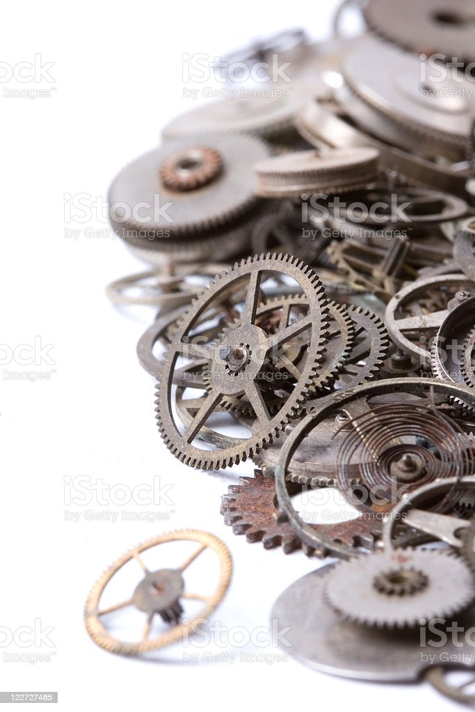 old watch parts royalty-free stock photo