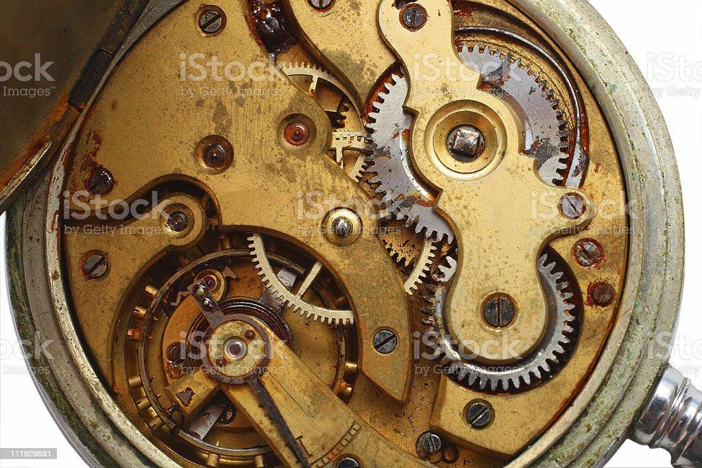 old watch rusty gear macro royalty-free stock photo