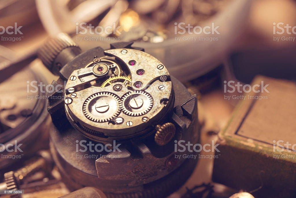 Old Watchmaker Studio stock photo