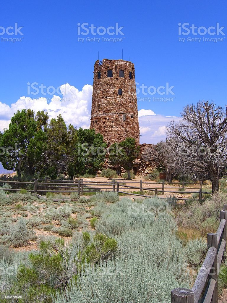 Old watchtower royalty-free stock photo