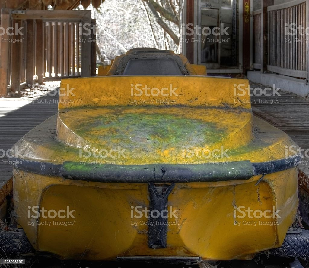 Old water coaster stock photo