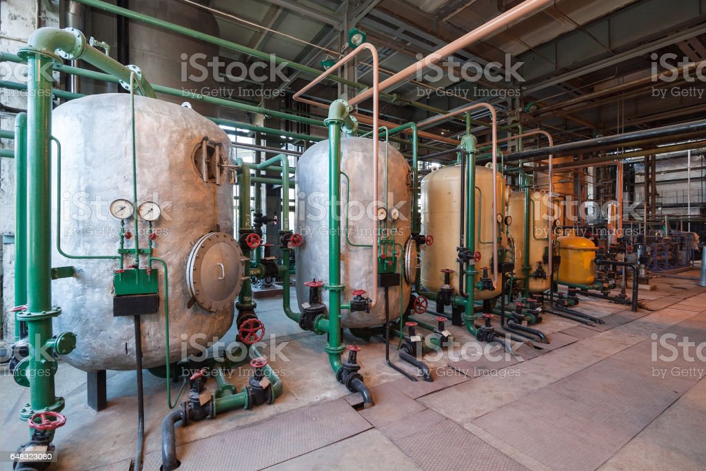 Old water filters stock photo