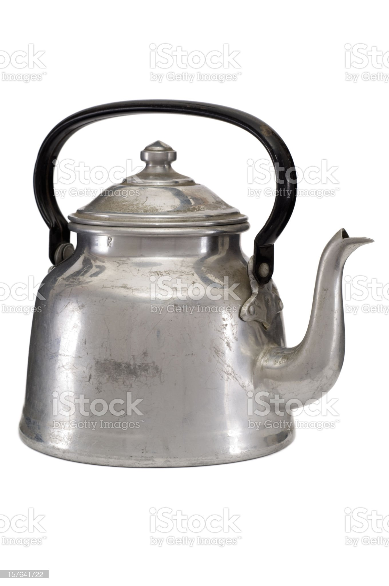Old water kettle on white background royalty-free stock photo