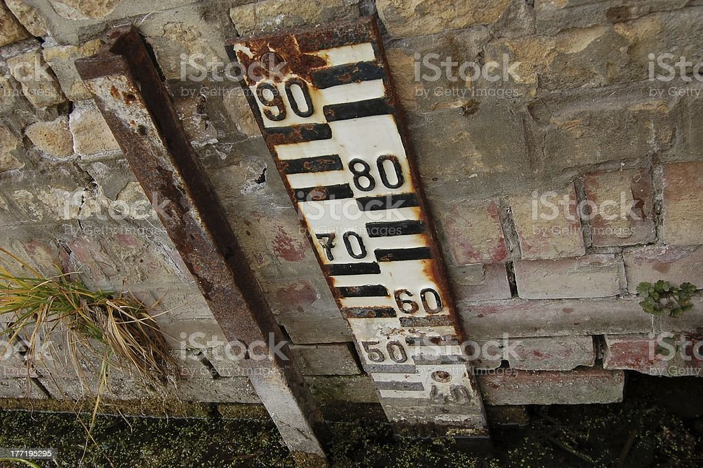 Old water level gauge royalty-free stock photo