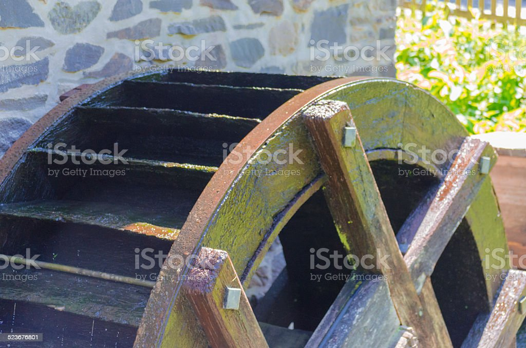 Old Water Mill Wheel stock photo