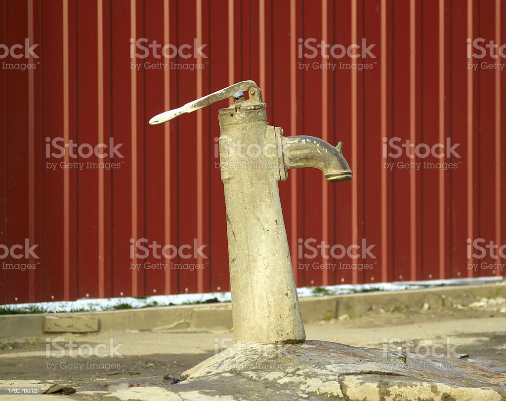 old water pump royalty-free stock photo