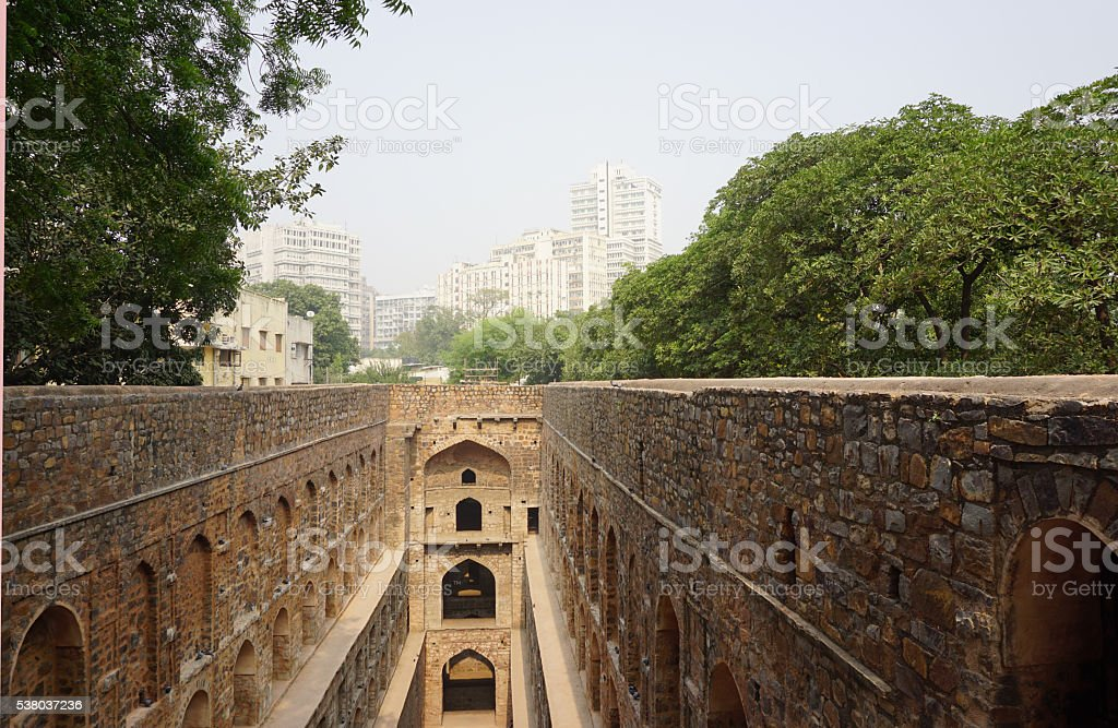 Old water repository stock photo