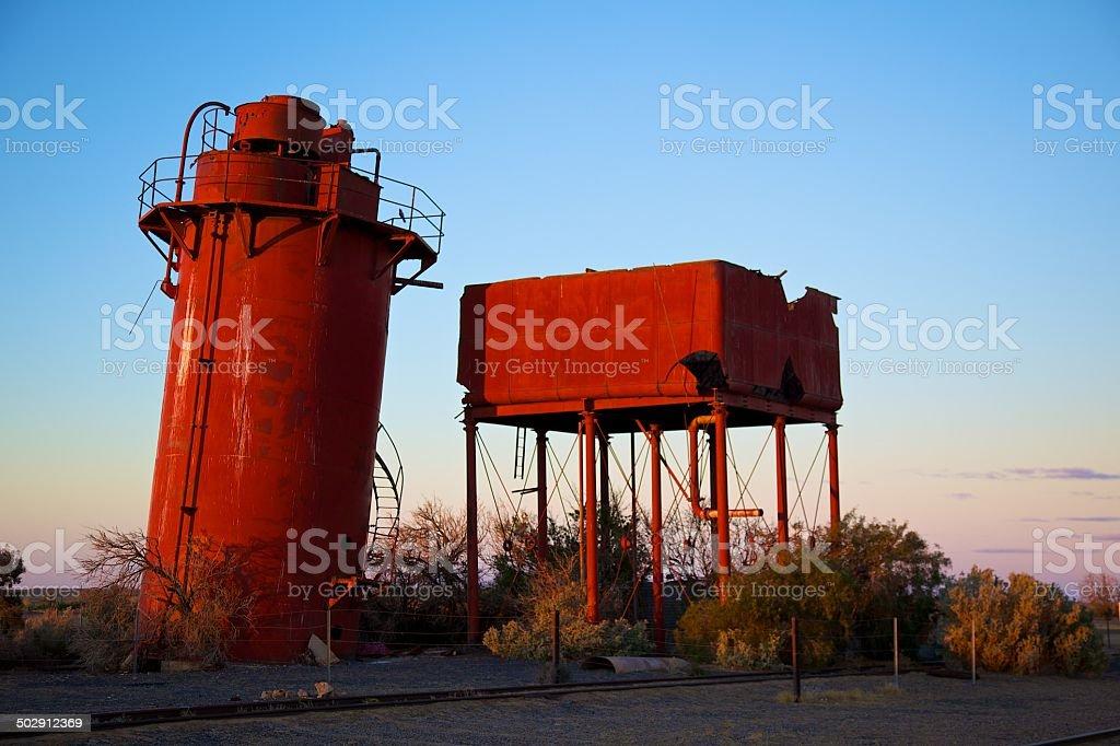 Old Water Softener Ghan Railway stock photo