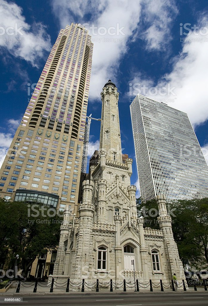 Old Water Tower, Chicago, Illinois stock photo