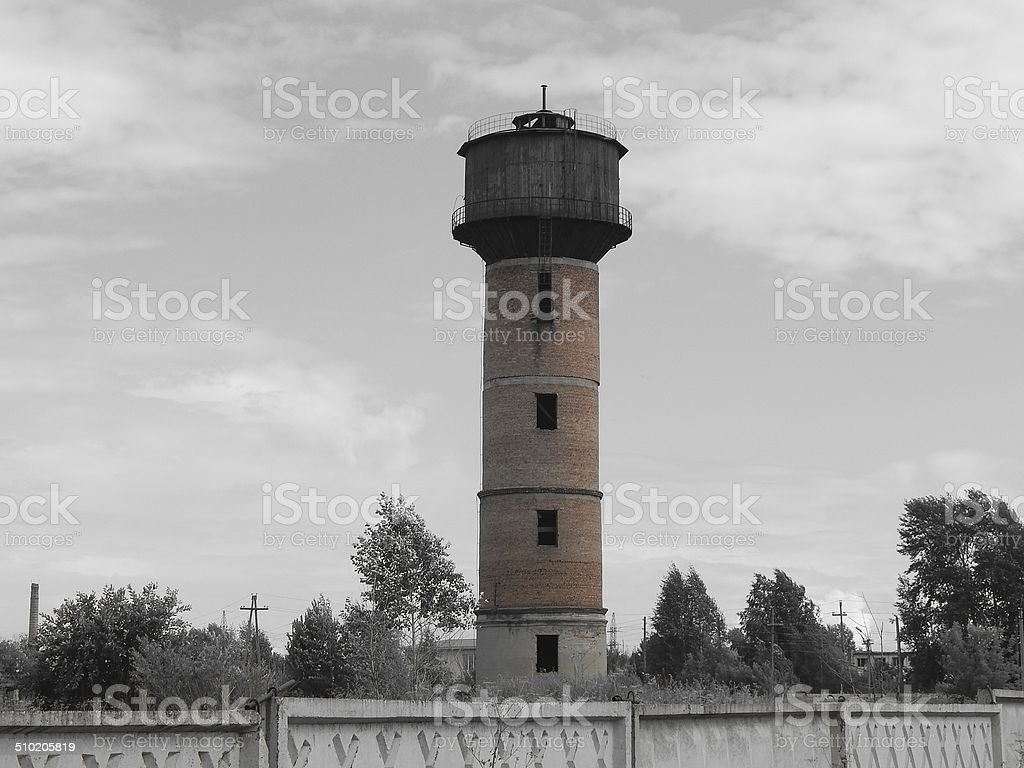 Old  water tower. stock photo
