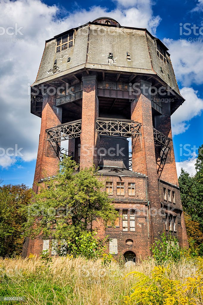 Old water tower, Zabrze, Poland stock photo