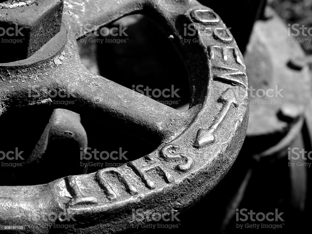 old water valve gragment stock photo