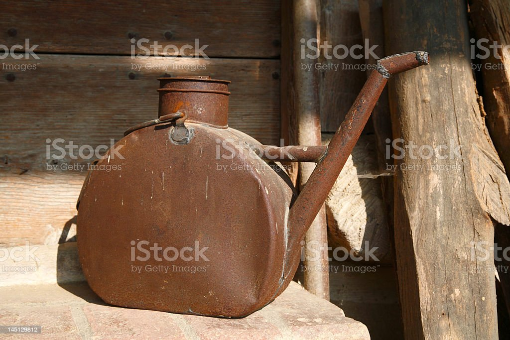 Old watering can royalty-free stock photo