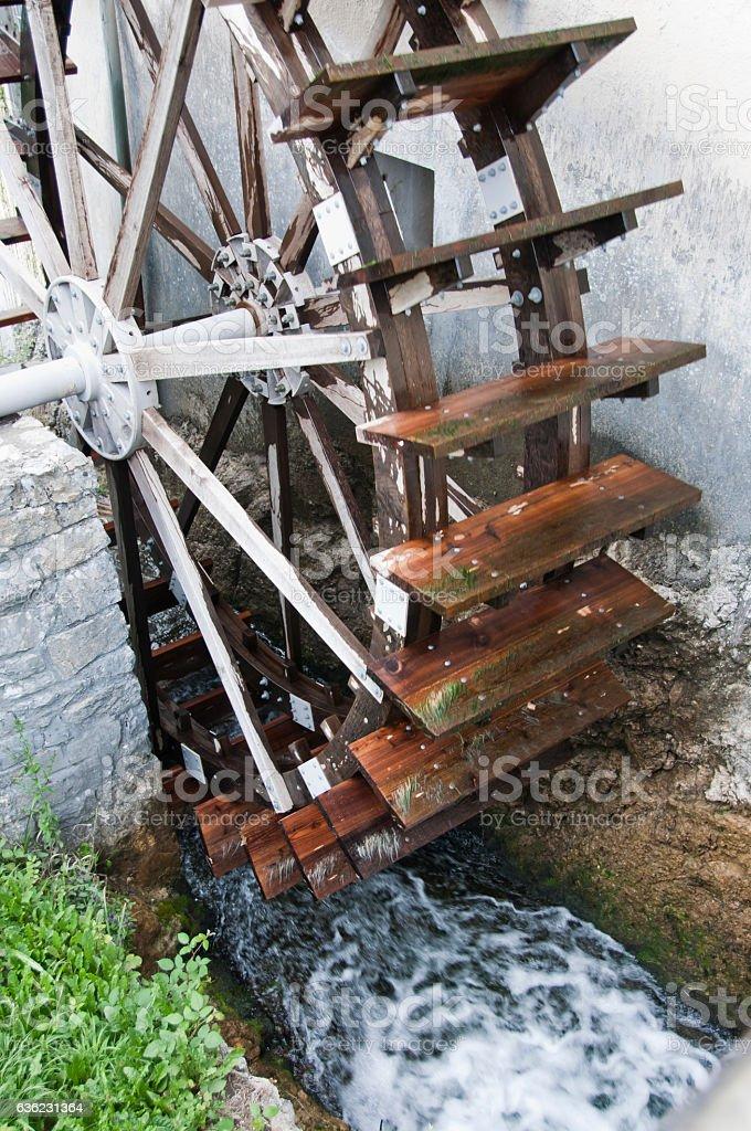 Old Watermill Wheel stock photo