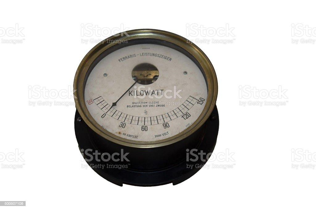 Old wattmeter stock photo