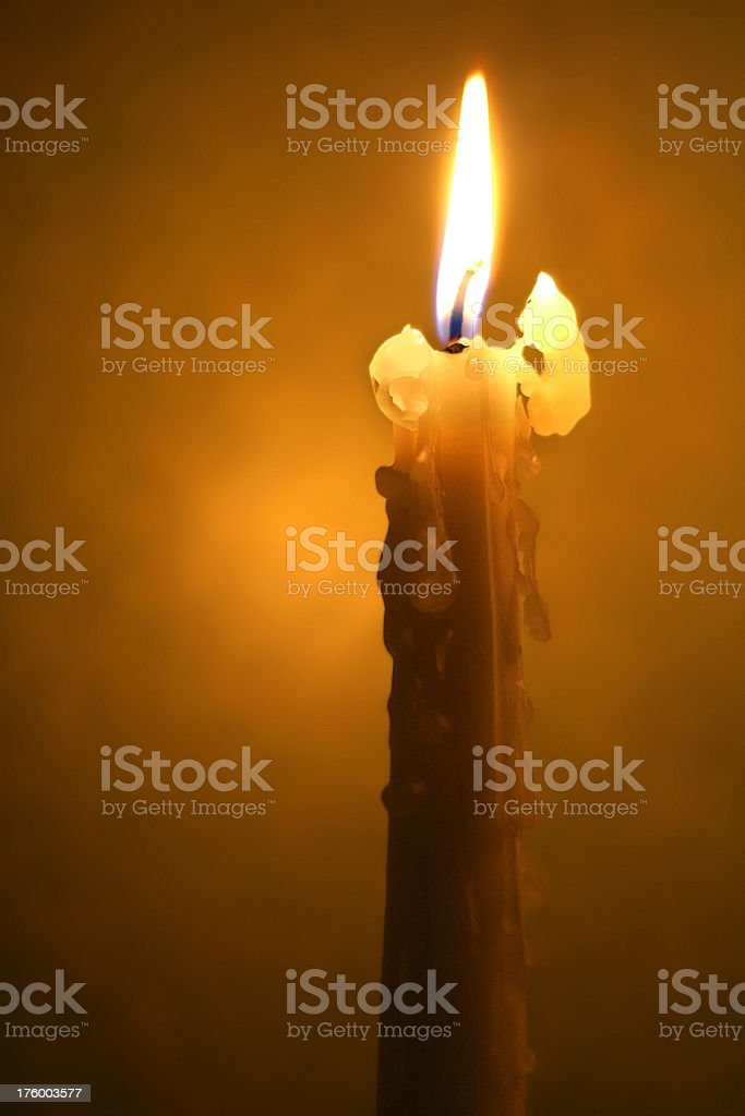 Old Wax Candle stock photo