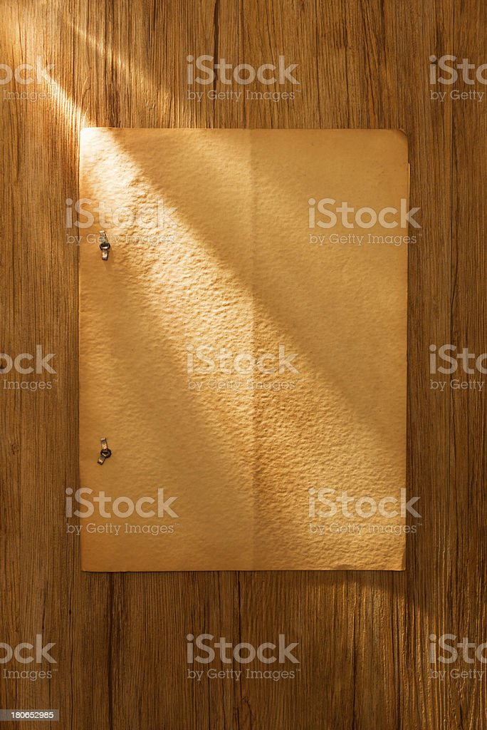 Old weathered blank sheet royalty-free stock photo