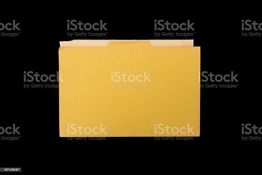 Old weathered cardboard folder royalty-free stock photo