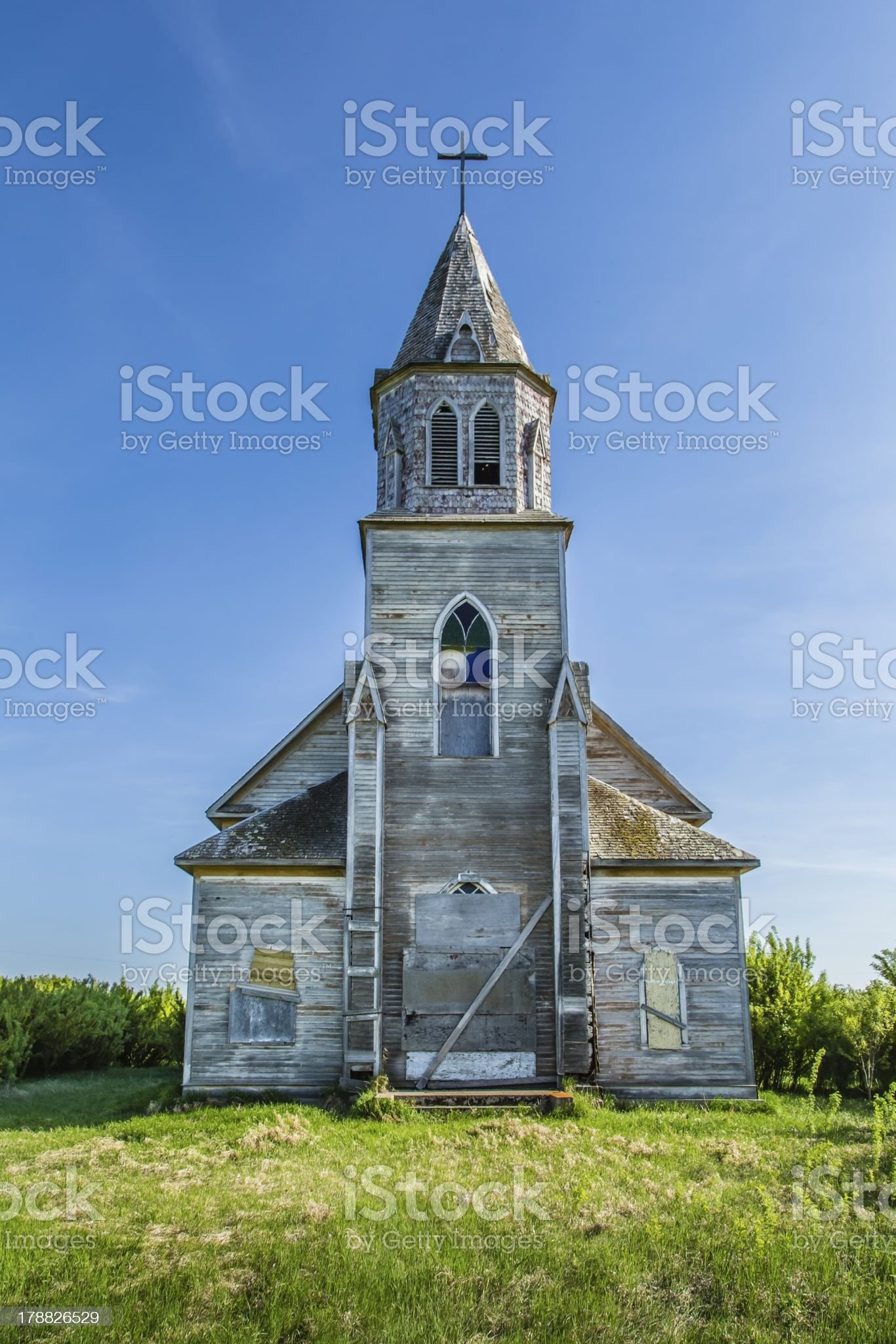 Old Weathered Church royalty-free stock photo