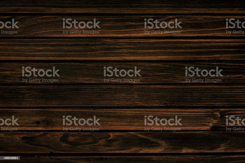 Old weathered dark wooden board stock photo
