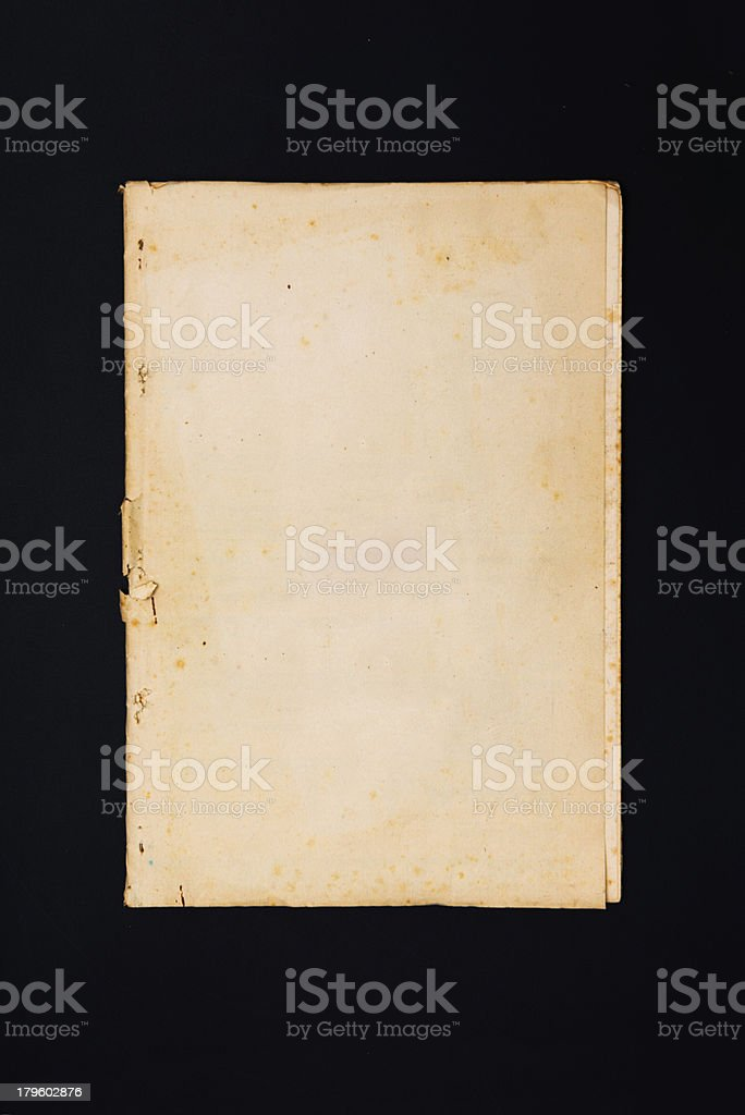 Old weathered documents on black royalty-free stock photo
