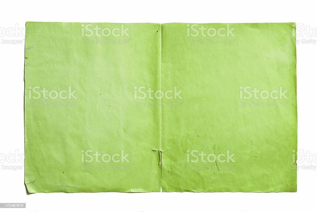 Old  weathered green paper background. royalty-free stock photo