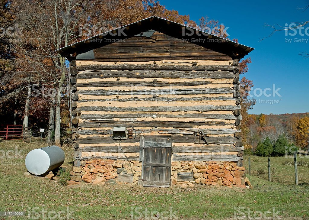 Old Weathered Log Building royalty-free stock photo