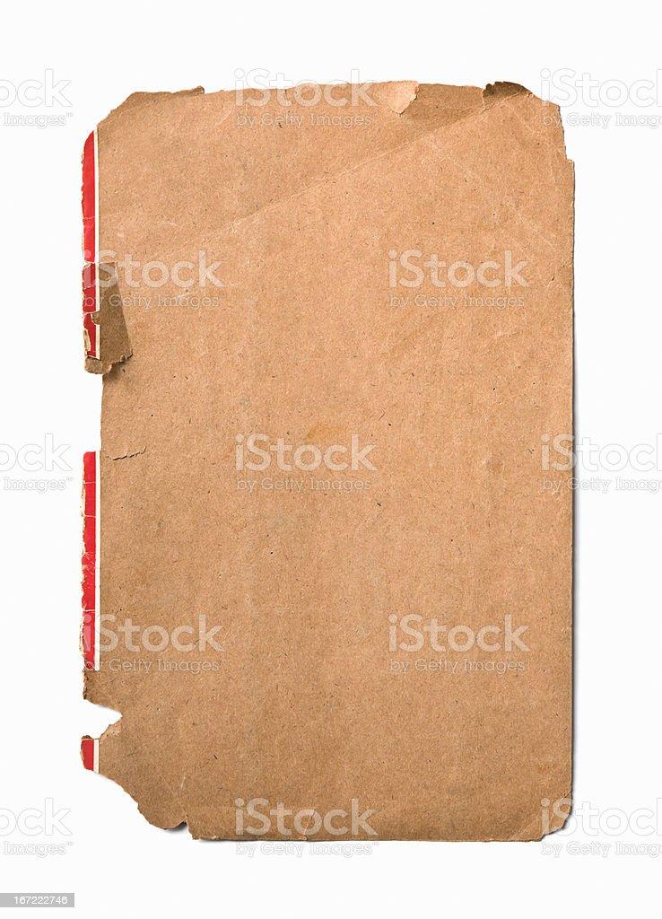Old  weathered orange paper background. royalty-free stock photo