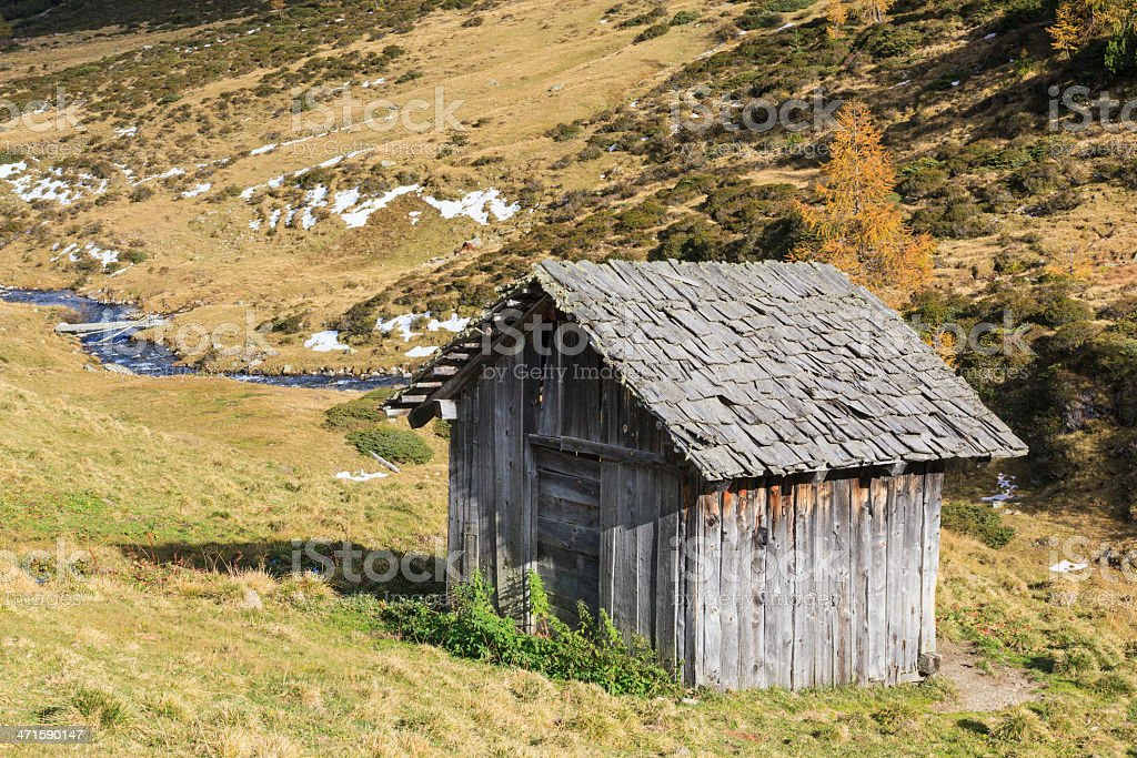 Old weathered shed royalty-free stock photo