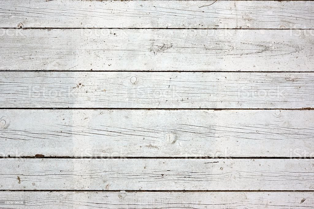 Old Weathered White Wood Rustic Textured Background stock photo