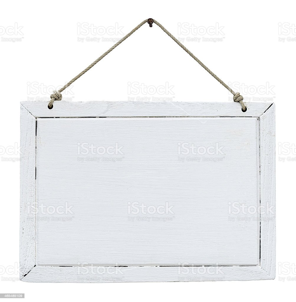 Old weathered white wood signboard. royalty-free stock photo