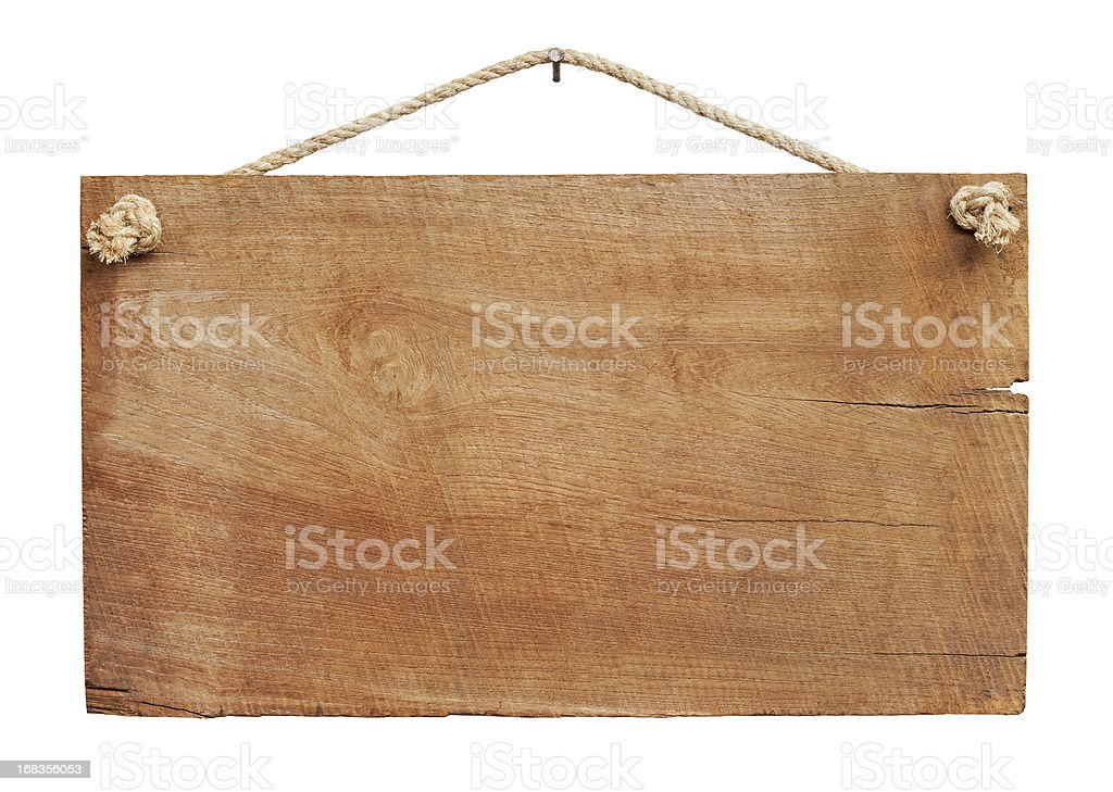 Old weathered wood signboard background. stock photo