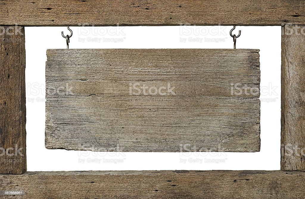 Old weathered wood signboard. royalty-free stock photo
