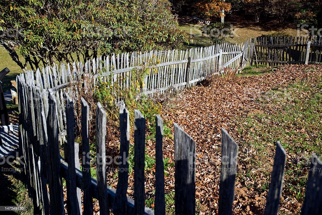 Old Weathered Wooden Fence royalty-free stock photo