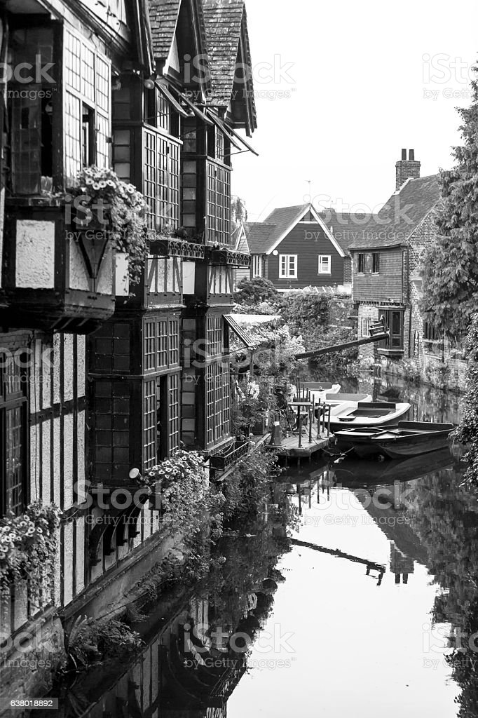 Old Weavers House on the River Stour. Canterbury, Kent, UK stock photo
