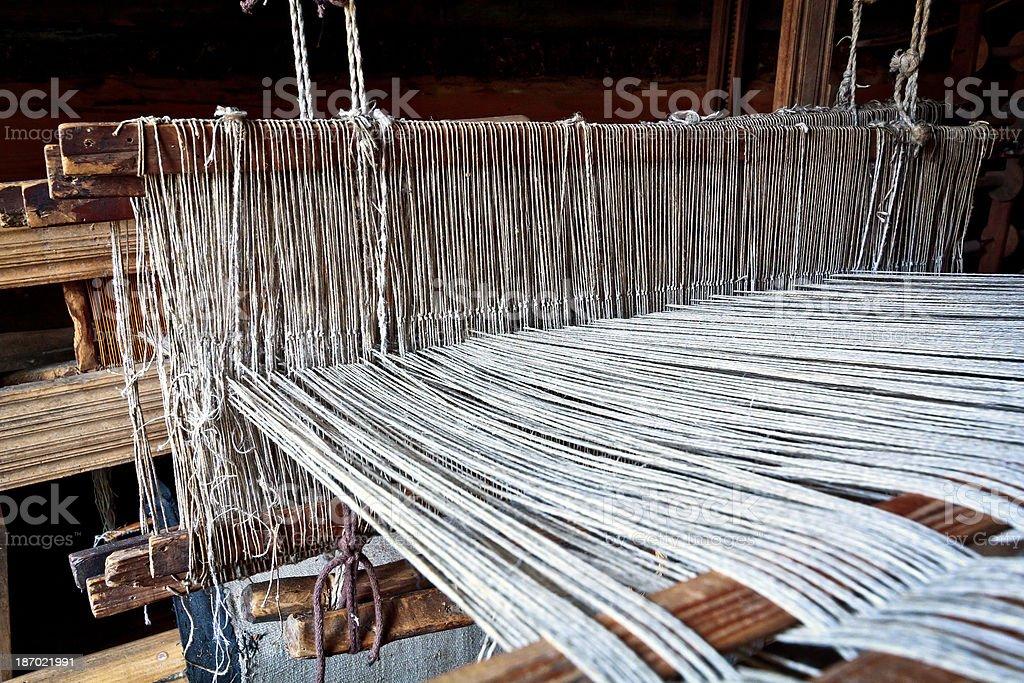 Old Weaving Loom royalty-free stock photo