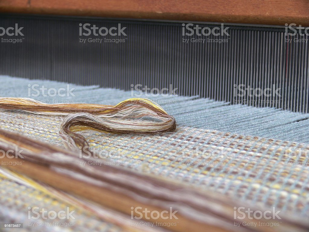old weaving loom royalty-free stock photo