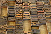 Old weed letterpress type