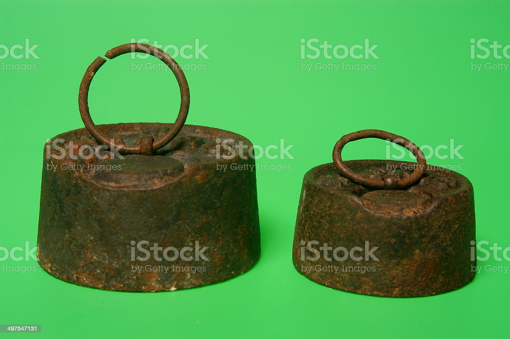Old weight stock photo